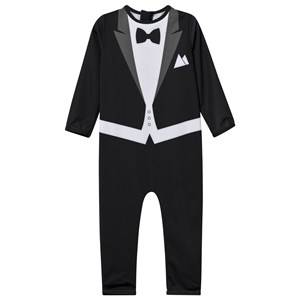 The Tiny Universe Unisex Childrens Clothes Swimwear and coverups Black The Tiny Suit Snow Black White UV-Protect