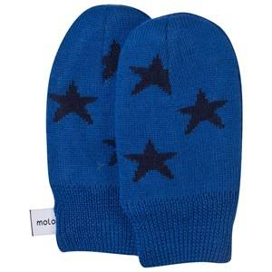 Molo Unisex Childrens Clothes Gloves and mittens Blue Snowflake Mittens Sparkling Blue