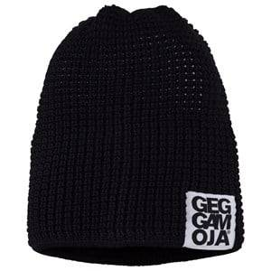 Geggamoja Unisex Childrens Clothes Headwear Black Knitted Beanie Black 47 0-2 Y Black