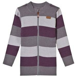 Voksi Girls Childrens Clothes Jumpers and knitwear Purple Wool Rib Jacket Purple