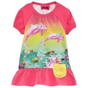 Me Too Girls Childrens Clothes Dresses Pink Fido 62 Dress SS Hot Pink