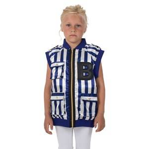 The BRAND Boys Childrens Clothes Coats and jackets Blue B Vest Blue/White Stripe