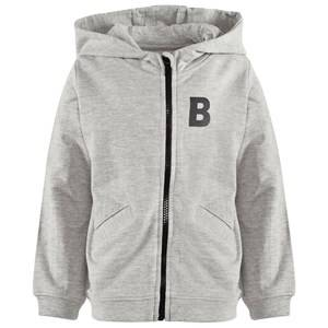 The BRAND Girls Childrens Clothes Jumpers and knitwear Grey Bear Hoodie Grey Melange