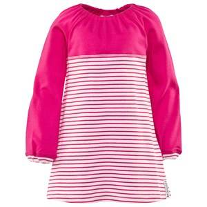 Geggamoja Girls Childrens Clothes Dresses Pink Two Color Dress Pink/Cerise