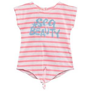 United Colors of Benetton Girls Childrens Clothes Tops Pink Sea Beauty T-Shirt Pink