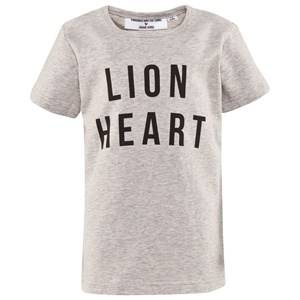 Gardner and the gang Unisex Childrens Clothes Tops Grey The Lion Heart Tee Heather Grey