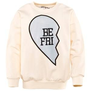 Gardner and the gang Unisex Childrens Clothes Jumpers and knitwear White Buddy Sweat Shirt BE FRI Cream White