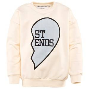 Gardner and the gang Unisex Childrens Clothes Jumpers and knitwear White Buddy Sweat Shirt ST END Cream White