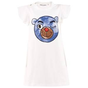 Mini Rodini Girls Childrens Clothes Dresses Blue Bear Wing Dress Blue