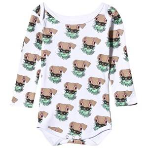 Gardner and the gang Unisex Childrens Clothes All in ones White Greg Baby Body White