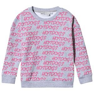 Gardner and the gang Unisex Childrens Clothes Jumpers and knitwear Grey The Classic Hot Dogs Sweater  Grey