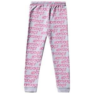 Gardner and the gang Unisex Childrens Clothes Bottoms Grey Hot Dogs Leggings Grey