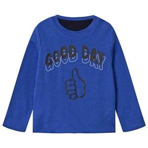 Stella McCartney Kids Unisex Childrens Clothes Tops Blue Coby Reversible Tee Electric Blue
