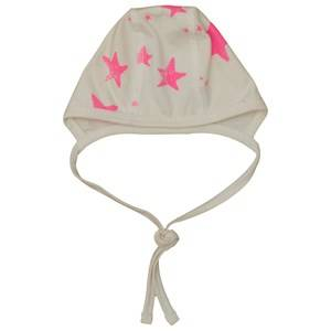 Noe & Zoe Berlin Girls Childrens Clothes Headwear White Newborn Hat Pink Stars