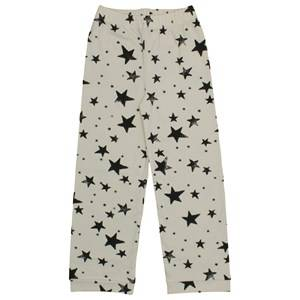 Noe & Zoe Berlin Unisex Childrens Clothes Nightwear White PJ Pants Black Stars