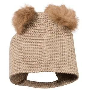 Huttelihut Unisex Childrens Clothes Headwear Beige Crocheted Hat Camel