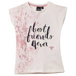 Hummel Girls Childrens Clothes Tops White Bellis Tee Whisper White
