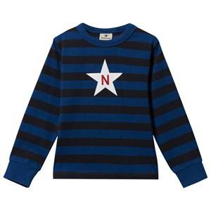 Nova Star Unisex Childrens Clothes Tops Blue Striped Tee Black Blue