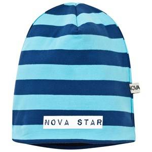 Nova Star Unisex Childrens Clothes Headwear Blue Fleece Lined Beanie Striped Blue