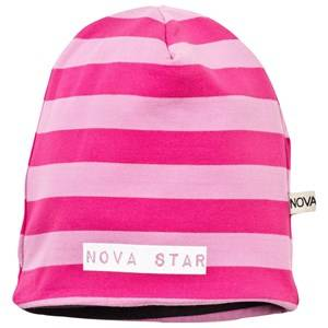 Nova Star Unisex Childrens Clothes Headwear Pink Fleece Lined Beanie Striped Pink