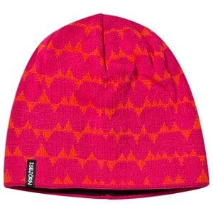 Isbjörn Of Sweden Unisex Childrens Clothes Headwear Pink Tiptop Knitted Cap Smoothie