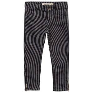 Bobo Choses Unisex Childrens Clothes Bottoms Grey Hypnotized Slim Fit Trousers Grey