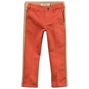 Bobo Choses Unisex Childrens Clothes Bottoms Multi Bicolour Trousers Golden Piping