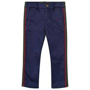 Bobo Choses Unisex Childrens Clothes Bottoms Red Two Tone Trousers Navy/Green