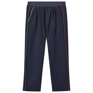 Bobo Choses Unisex Childrens Clothes Bottoms Black Baggy Trousers Navy