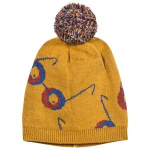 Bobo Choses Unisex Childrens Clothes Headwear Yellow Beanie Impossible Glasses