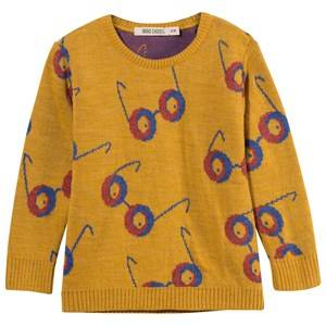 Bobo Choses Unisex Childrens Clothes Jumpers and knitwear Yellow Jumper Impossible Glasses
