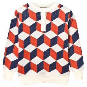 Bobo Choses Unisex Childrens Clothes Jumpers and knitwear Blue Op Art Knitted Sweater Blue