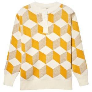 Bobo Choses Unisex Childrens Clothes Jumpers and knitwear Yellow Op Art Knitted Sweater Yellow