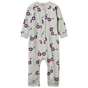 Bobo Choses Unisex Childrens Clothes All in ones Grey Fleece JumFleece One-Piece Impossible Glassespsuit Glasses