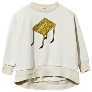 Bobo Choses Unisex Childrens Clothes Jumpers and knitwear White Sweatshirt Wandering Desk