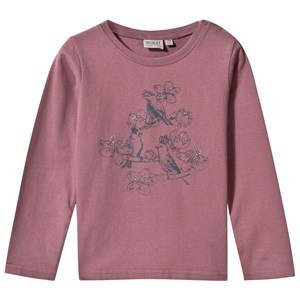 Wheat Girls Childrens Clothes Tops Purple T-Shirt Birds Talk Lavender