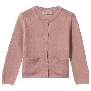 Wheat Girls Childrens Clothes Jumpers and knitwear Pink Knit Cardigan Powder Rose
