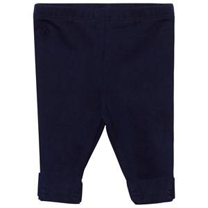 Ralph Lauren Girls Childrens Clothes Bottoms Navy Bow-Back Leggings Newport Navy