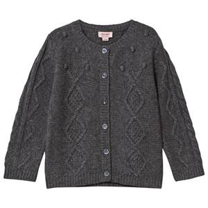 Noa Noa Miniature Girls Childrens Clothes Jumpers and knitwear Grey Baby Erin Cardigan Dark Grey Melange