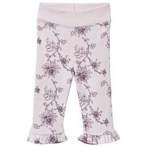 Noa Noa Miniature Girls Childrens Clothes Bottoms Purple Printed Baby Leggings Orchid Ice