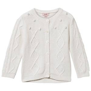 Noa Noa Miniature Girls Childrens Clothes Jumpers and knitwear White Baby Erin Cardigan Chalk
