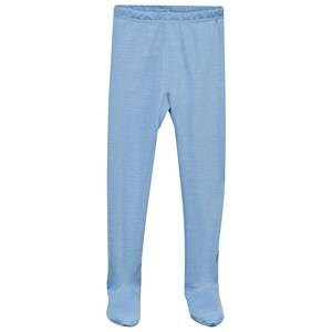 Joha Unisex Childrens Clothes Bottoms Blue Arctic Zone Footed Leggings Solid Blue