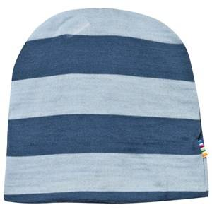 Joha Unisex Childrens Clothes Headwear Blue Block Striped Hat Blue