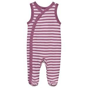 Joha Girls Childrens Clothes All in ones Pink Striped Footed Baby Body Pink