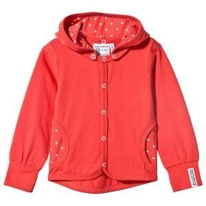 Geggamoja Girls Childrens Clothes Jumpers and knitwear Pink Jacket Coral Dot