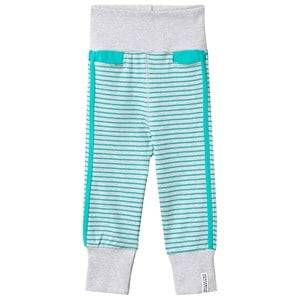 Geggamoja Boys Childrens Clothes Bottoms Grey Baby Pants Light Grey Mel/Turquoise