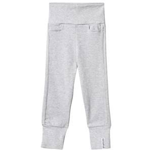 Geggamoja Unisex Childrens Clothes Bottoms Grey Baby Pants Light grey mel