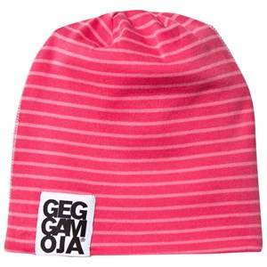 Geggamoja Girls Childrens Clothes Headwear Pink Two Color Hat Fleece Raspberry/Coral