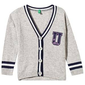 United Colors of Benetton Girls Childrens Clothes Jumpers and knitwear Grey Knitted Cardigan Grey