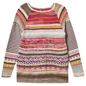 United Colors of Benetton Girls Childrens Clothes Jumpers and knitwear Multi Knitted Sweater Multi